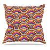 KESS InHouse Rainbows by Danny Ivan Multicolor Throw Pillow
