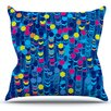 KESS InHouse Color Hiving by Frederic Levy-Hadida Throw Pillow