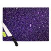 KESS InHouse Purple Dots Cutting Board