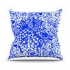 KESS InHouse Bloom Blue for You Throw Pillow