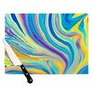 <strong>KESS InHouse</strong> Rainbow Swirl Cutting Board