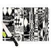 KESS InHouse Tropical Buzz Cutting Board