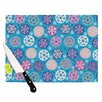 <strong>Floral Winter Cutting Board</strong> by KESS InHouse