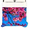 """KESS InHouse """"Flowers"""" Woven Comforter Duvet Cover"""