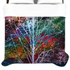 Trees in the Night Duvet Cover