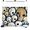 """KESS InHouse """"Skulls"""" Woven Comforter Duvet Cover"""