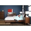 South Shore Olly Mid-Century Modern Queen Platform Bedroom Collection