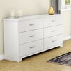 South Shore Fusion 6 Drawer Dresser