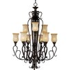 Wildon Home ® Curtin 9 - Light Multi - Tier Chandelier