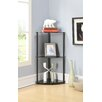 Convenience Concepts Midnight 3 Tier Corner Shelf