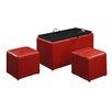 Convenience Concepts Designs 4 Comfort Leather Storage Bench