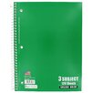 Norcom Inc 3 Subject College Ruled Notebook
