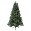 Jolly Workshop 6' Green Highland Fir Artificial Christmas Tree with 300 LED Warm Lights and Metal Stand