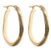 Sasson Jewelry Oval Knife Edge Hoop Earrings