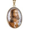 <strong>Museum 14K Gold Jesus Sacred Heart Enameled Porcelain Pendant</strong> by Sasson Jewelry