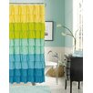 Dainty Home Flamenco Polyester Ruffled Shower Curtain