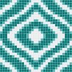 <strong>Mosaic Loft</strong> Urban Essentials Groovy Mosaic Pattern Tile in Deep Teal