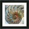 "Studio Works Modern ""Nautilus Sea Shell"" by Zhee Singer Framed Fine Art Giclee Painting Print"