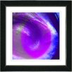 "Studio Works Modern ""Purple Grape Crush"" by Zhee Singer Framed Fine Art Giclee Painting Print"