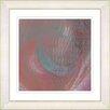 "Studio Works Modern ""Moon Shadow - Red"" by Zhee Singer Framed Fine Art Giclee Painting Print"