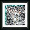 "Studio Works Modern ""Turquoise Dance Moves"" by Zhee Singer Framed Fine Art Giclee Painting Print"
