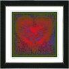 "Studio Works Modern ""Filigree Heart - Red"" by Zhee Singer Framed Fine Art Giclee Painting Print"