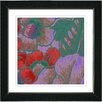 "Studio Works Modern ""Floral Conjunction - Red"" by Zhee Singer Framed Fine Art Giclee Painting Print"