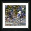 """Studio Works Modern """"Water Bird' by Zhee Singer Framed Giclee Print Fine Art in Tan"""