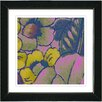 "Studio Works Modern ""Floral Conjunction Rose"" by Zhee Singer Framed Fine Art Giclee Painting Print"