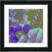 "Studio Works Modern ""Purple Floral Conjunction"" by Zhee Singer Framed Fine Art Giclee Painting Print"
