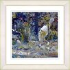 "Studio Works Modern ""Blue Water Bird"" by Zhee Singer Framed Fine Art Giclee Painting Print"
