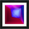 "Studio Works Modern ""Mind Box - Blue Red"" by Zhee Singer Framed Fine Art Giclee Painting Print"