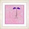 """Studio Works Modern """"Six Steps Off the Ground - Pink"""" by Zhee Singer Framed Fine Art Giclee Painting Print"""