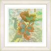 "Studio Works Modern ""Sophia Flower"" by Zhee Singer Framed Giclee Print Fine Art in Green"