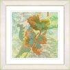 """Studio Works Modern """"Sophia Flower - Green"""" by Zhee Singer Framed Fine Art Giclee Painting Print"""