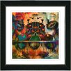 "Studio Works Modern ""Fruit Punch"" by Zhee Singer Framed Giclee Print Fine Art in Orange"