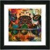 "Studio Works Modern ""Orange Fruit Punch"" by Zhee Singer Framed Fine Art Giclee Painting Print"
