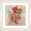 """Studio Works Modern """"Sophia Flower - Red"""" by Zhee Singer Framed Fine Art Giclee Painting Print"""