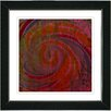 "Studio Works Modern ""Hybrid History - Red"" by Zhee Singer Framed Fine Art Giclee Painting Print"
