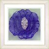"Studio Works Modern ""Crystal Flower - Purple"" by Zhee Singer Framed Fine Art Giclee Painting Print"