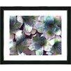"Studio Works Modern ""Spring Flowers - Blue"" by Zhee Singer Framed Fine Art Giclee Painting Print"