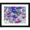 "Studio Works Modern ""Nasturtiums - Blue"" by Zhee Singer Framed Fine Art Giclee Painting Print"