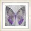 "Studio Works Modern ""Dusk Butterfly - Purple"" by Zhee Singer Framed Fine Art Giclee Painting Print"