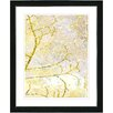 "Studio Works Modern ""Filigree Flower Branches - Gold"" by Zhee Singer Framed Fine Art Giclee Painting Print"
