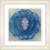 "Studio Works Modern ""Crystal Flower - Blue"" by Zhee Singer Framed Fine Art Giclee Painting Print"