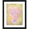 "Studio Works Modern ""Yellow Dansing Bud - Rose"" by Zhee Singer Framed Fine Art Giclee Painting Print"