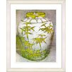 "Studio Works Modern ""Bamboo Urn - Yellow"" by Zhee Singer Framed Fine Art Giclee Painting Print"
