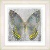 "Studio Works Modern ""Dusk Butterfly - Yellow"" by Zhee Singer Framed Fine Art Giclee Painting Print"