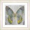 """Studio Works Modern """"Dusk Butterfly - Yellow"""" by Zhee Singer Framed Fine Art Giclee Print"""