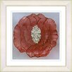 "Studio Works Modern ""Crystal Flower - Orange"" by Zhee Singer Framed Fine Art Giclee Painting Print"